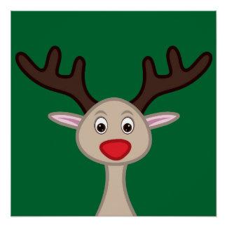 Reindeer cartoon character poster