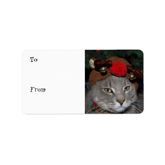 Reindeer Cat Label