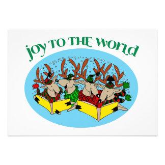 Reindeer Choir - Christmas Choir Carols Personalized Announcement