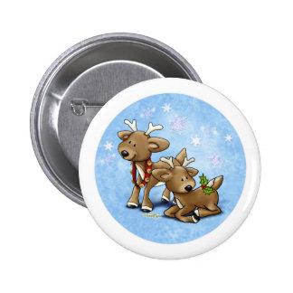 Reindeer Christmas 6 Cm Round Badge