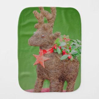 Reindeer Christmas decoration Burp Cloth