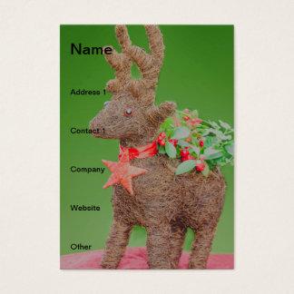 Reindeer Christmas decoration Business Card