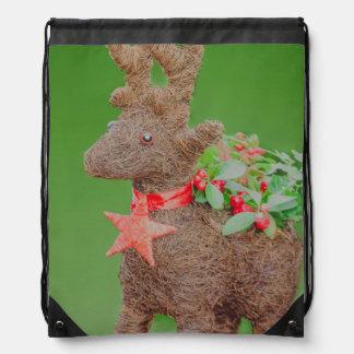 Reindeer Christmas decoration Drawstring Bag