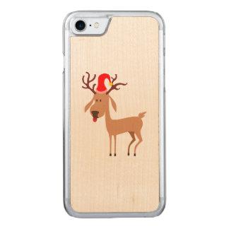 Reindeer Christmas Holidays Joy Carved iPhone 8/7 Case