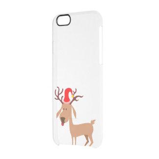 Reindeer Christmas Holidays Joy Clear iPhone 6/6S Case