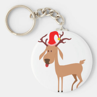 Reindeer Christmas Holidays Joy Key Ring