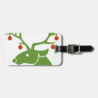 Reindeer Christmas Holidays Joy Luggage Tag