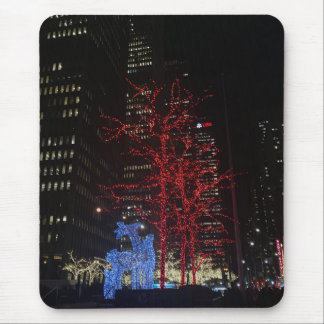 Reindeer Christmas Lights New York City Manhattan Mouse Pad