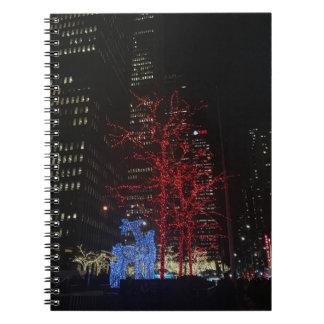 Reindeer Christmas Lights New York City Manhattan Notebooks