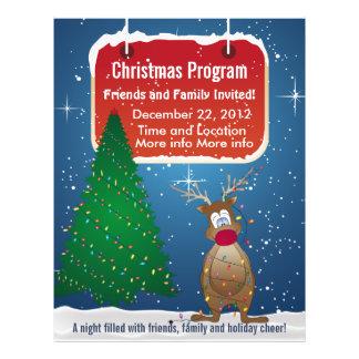 Reindeer Christmas Program Flyer