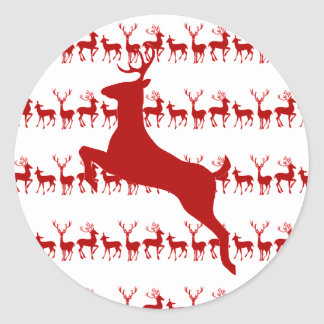 Reindeer Christmas Sticker