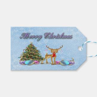 Reindeer Christmas Tree Christmas Bulbs
