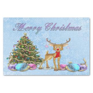 Reindeer Christmas Tree Christmas Bulbs Tissue Paper