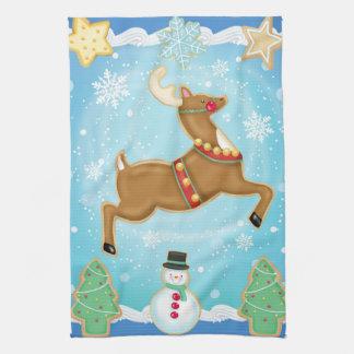 Reindeer Cookie Kitchen Towel