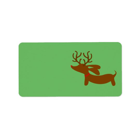 Reindeer Dachshund Christmas Gift Tag Stickers Address Label