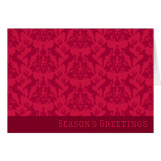 REINDEER DAMASK Holiday Card