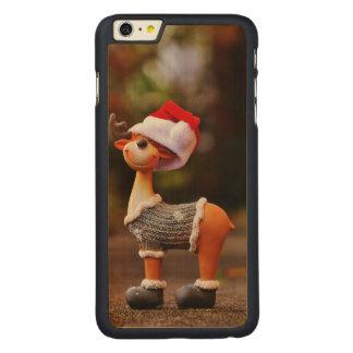 Reindeer decorations - christmas reindeer carved maple iPhone 6 plus case