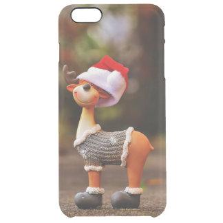 Reindeer decorations - christmas reindeer clear iPhone 6 plus case