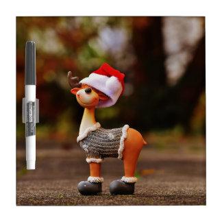 Reindeer decorations - christmas reindeer dry erase board