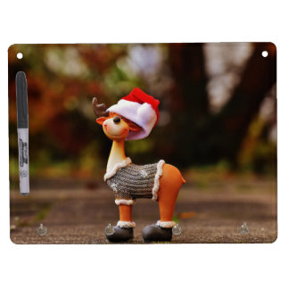 Reindeer decorations - christmas reindeer dry erase board with key ring holder