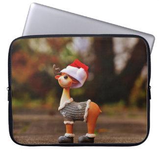 Reindeer decorations - christmas reindeer laptop sleeve