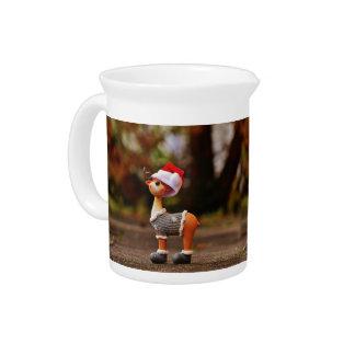 Reindeer decorations - christmas reindeer pitcher