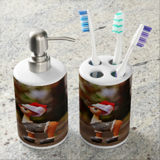 Reindeer decorations - christmas reindeer soap dispenser and toothbrush holder