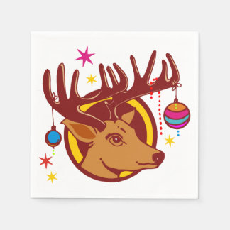 Reindeer / Deer / Christmas + your idea Paper Serviettes
