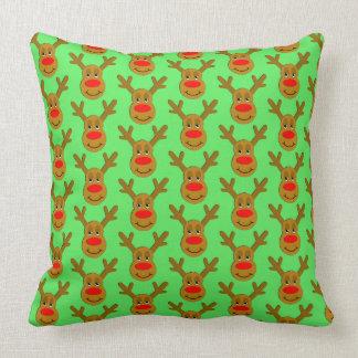 Reindeer Face Green TP Cushion