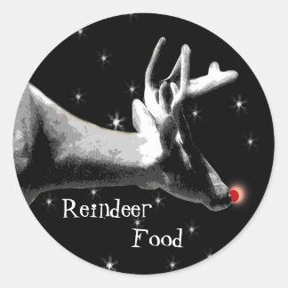 Reindeer, Food Classic Round Sticker