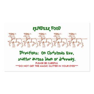 REINDEER FOOD - Customised 2 Business Cards