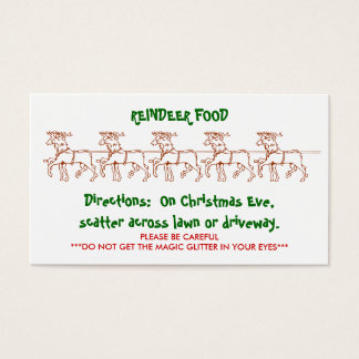 REINDEER FOOD - Customized 2 Business Card
