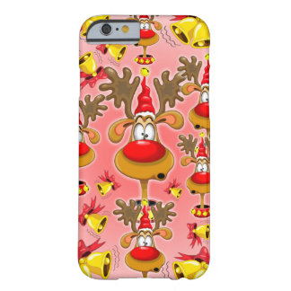 Reindeer Fun Christmas Cartoon with Bells Alarms Barely There iPhone 6 Case
