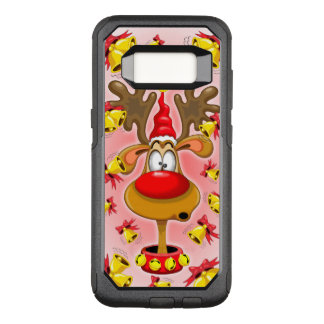 Reindeer Fun Christmas Cartoon with Bells Alarms OtterBox Commuter Samsung Galaxy S8 Case