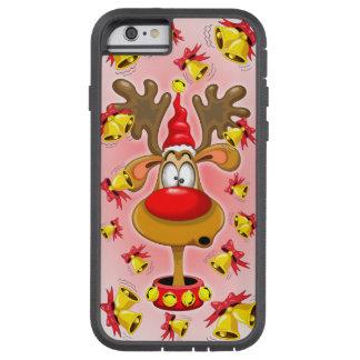 Reindeer Fun Christmas Cartoon with Bells Alarms Tough Xtreme iPhone 6 Case