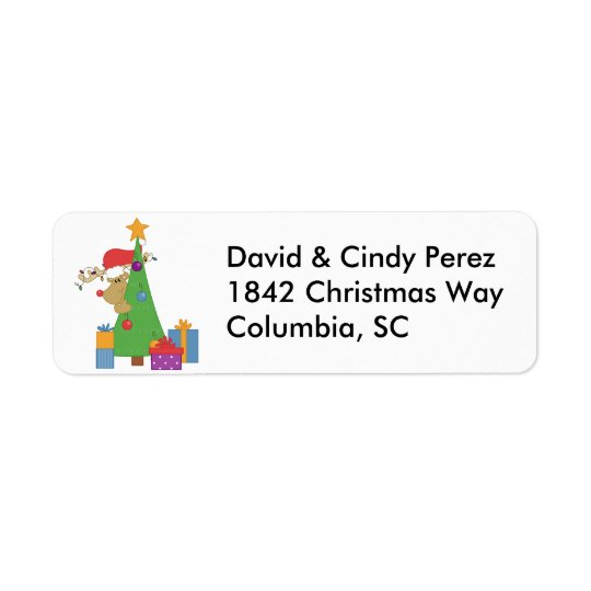 Reindeer Fun Return Address Label
