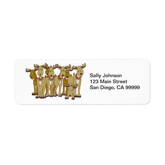 Reindeer Gang Return Address Label