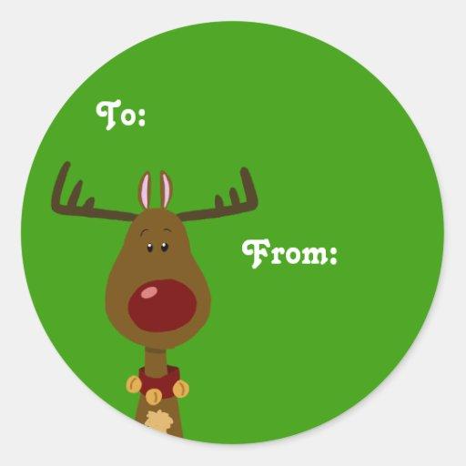 Reindeer Gift Tags Sticker