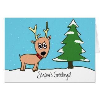 Reindeer Greetings Greeting Card