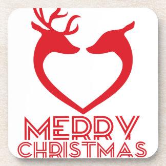 Reindeer Heart Coasters