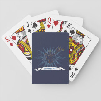 Reindeer Holiday Christmas Winter Art Illustration Playing Cards
