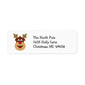 Reindeer Holiday Return Address Labels