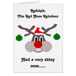 Reindeer Humorous Christmas Card Greeting Card