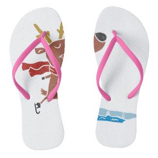 Reindeer ice skate thongs