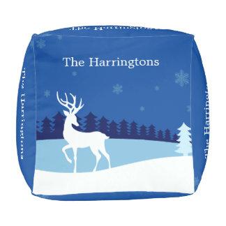 Reindeer Illustration custom name poufs