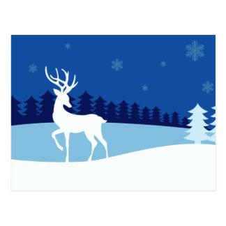 Reindeer illustration postcard
