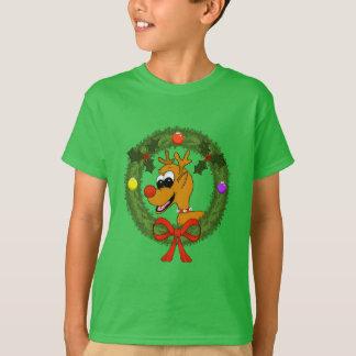 Reindeer in Wreath Boys T-Shirt