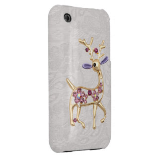 Reindeer Jewel Photo Paisley Lace iPhone 3G Case iPhone 3 Covers