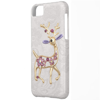Reindeer Jewel Photo Paisley Lace iPhone 5 Case