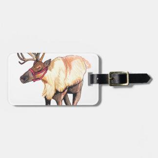 Reindeer Luggage Tag